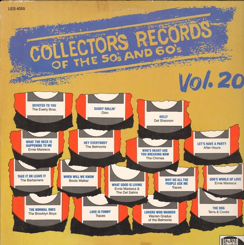 Everly Brothers, Dion, Del Shannon, Ernie Maresca, others - Collector's Records of the 50s & 60s Vol. 20: Devoted To You, Let's Have A Party, Lovers Who Wander, Love Is Funny (Vinyl LP record, re-issue of vintage recordings) - NM9/EX8 - LP Records