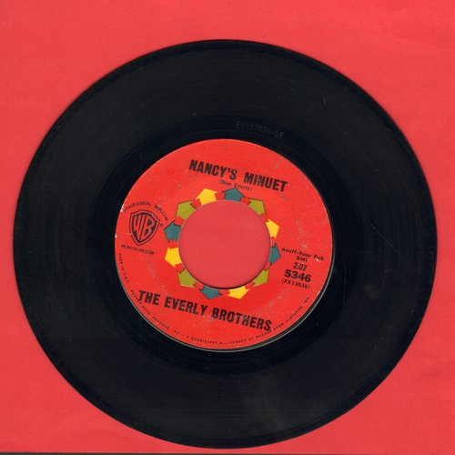 Everly Brothers - Nancy's Minuet/So It Always Will Be  - VG7/ - 45 rpm Records