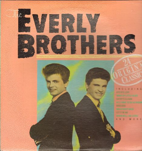 Everly Brothers - 24 Original Classics: Bye Bye Love, All I Have To Do Is Dream, Let It Be Me, Cathy's Clown, Bird Dog (2 vinyl LP record set, gate-fold cover, 1984 issue of vintage recordings) - NM9/VG7 - LP Records