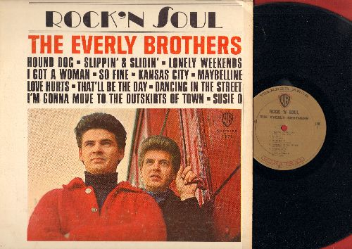 Everly Brothers - Rock 'N Soul: Hound Dog, So Fine, I Got A Woman, Maybelline, Love Hurts, That'll Be The Day, Dancing In The Street (Vinyl MONO LP record) - EX8/VG7 - LP Records
