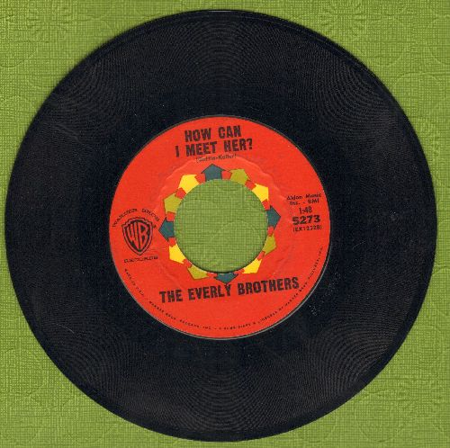 Everly Brothers - How Can I Meet Her/That's Old Fashioned  - NM9/ - 45 rpm Records