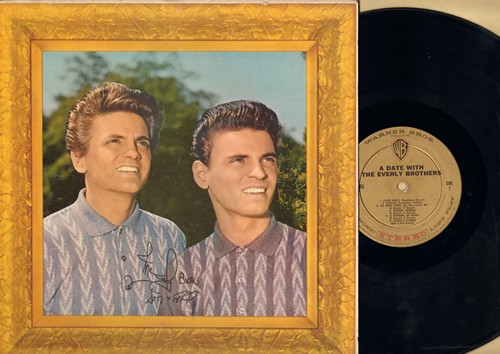 Everly Brothers - A Date With The Everly Brothers: Lucille, Love Hurts, Cathy's Clown, Made To Love, Sigh Cry Almost Die, Donna Donna (Vinyl STEREO LP record, gold label first pressing) - EX8/EX8 - LP Records