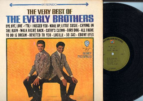 Everly Brothers - The Very Best Of The Everly Brothers: Bye Bye Love, ('Til) I Kissed You, Wake Up Little Susie, Crying In The Rain, Cathy's Clown, All I have To Do Is Dream, Bird Dog, So Sad, Ebony Eyes, Lucille (Vinyl STEREO LP record, green label) - NM