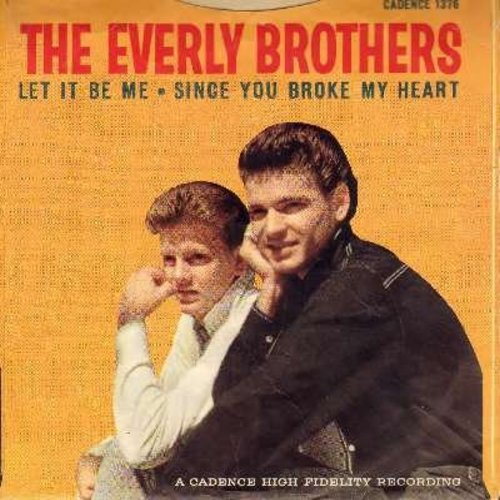 Everly Brothers - Let It Be Me/Since You Broke My Heart (with picture sleeve) - VG7/VG7 - 45 rpm Records