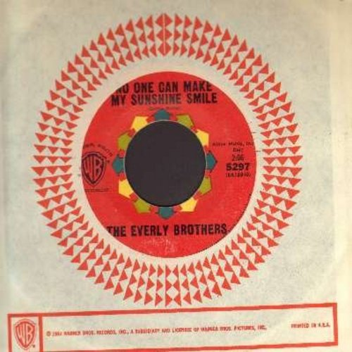 Everly Brothers - No One Can Make My Sunshine Smile/Don't Ask Me To Be Friends (with vintage Warner Brothers company sleeve) - NM9/ - 45 rpm Records