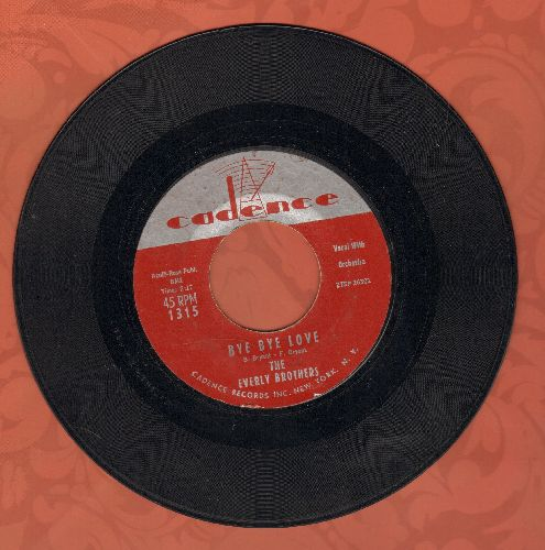Everly Brothers - Bye Bye Love/I Wonder If I Care As Much - VG7/ - 45 rpm Records
