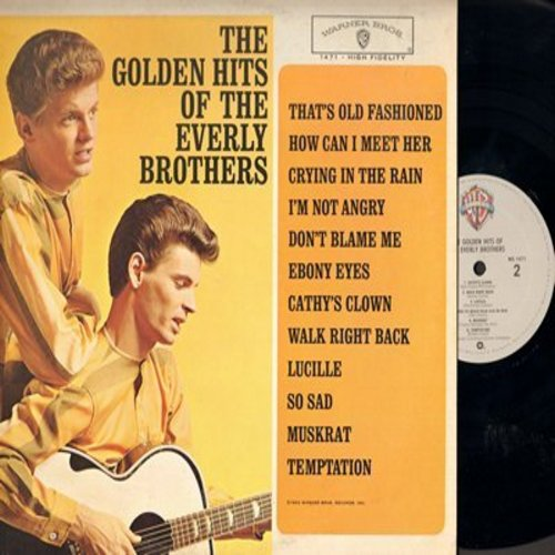 Everly Brothers - Golden Hits: (RE) How Can I Meet Her, Crying In The Rain, Ebony Eyes, Cathy's Clown, Lucille, So Sad, Temptation (Vinyl STEREO LP record, 1980s pressing, NICE condition!) - M10/NM9 - LP Records