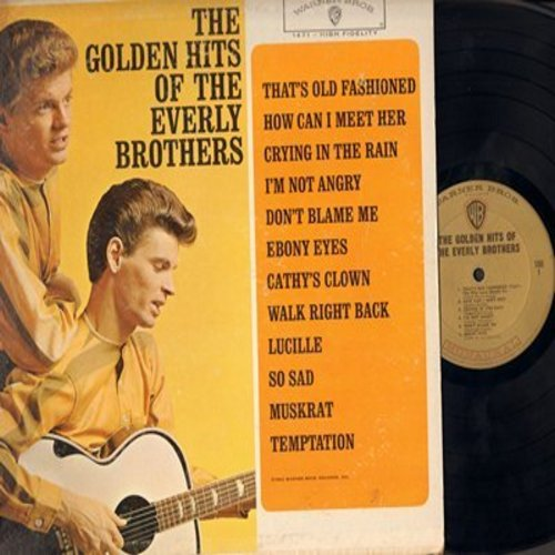 Everly Brothers - Golden Hits: How Can I Meet Her, Crying In The Rain, Ebony Eyes, Cathy's Clown, Lucille, So Sad, Temptation (Vinyl LP record - gold label first pressing) - EX8/VG7 - LP Records