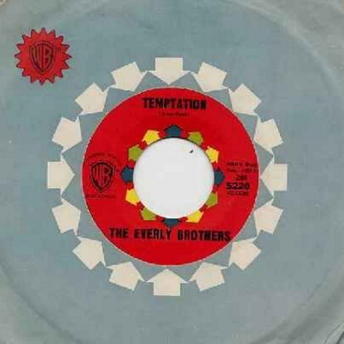 Everly Brothers - Temptation/Stick With Me Baby (with Warner Brothers company sleeve) - EX8/ - 45 rpm Records