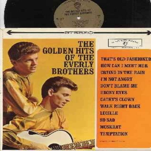 Everly Brothers - Golden Hits: How Can I Meet Her, Crying In The Rain, Ebony Eyes, Cathy's Clown, Lucille, So Sad, Temptation (Vinyl STEREO LP record, gold label first issue) - VG7/VG7 - LP Records