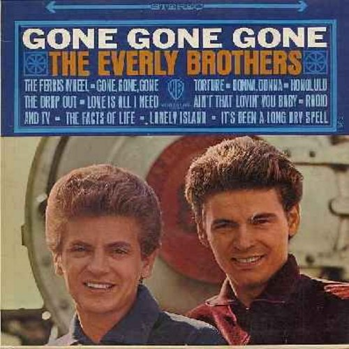 Everly Brothers - Gone Gone Gone: Donna Donna, Ain't That Lovin' You Baby, Radio & TV, Lonely Island, The Facts Of Life (vinyl STEREO LP record) - NM9/EX8 - LP Records