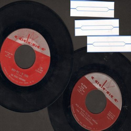 Everly Brothers - 2 for 1 Special: All I Want To Do Is Dream/Be Bop A-Lula (2 vintage first issue 45rpm records for the price of 1!) - VG7/ - 45 rpm Records