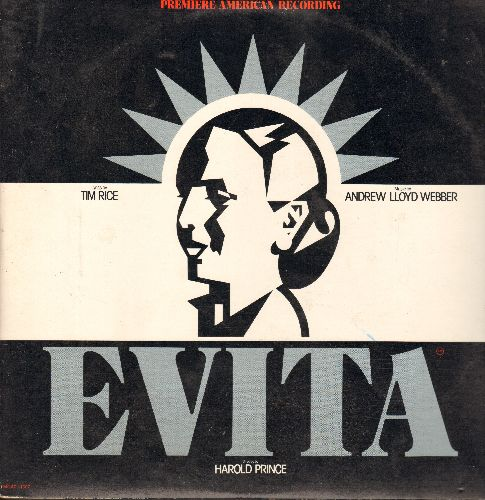 Webber, Andrew Lloyd - Evita - Premiere American Recording of the Broadway Hiy, lyrics by Tim Rice, music by Abdrew Lloyd Webber (2 vinyl STEREO LP records, gate-fold cover) - NM9/EX8 - LP Records