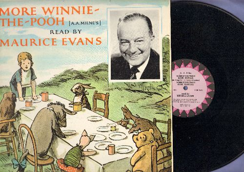 Evans, Maurice - More Winnie-The-Pooh ready by Maurice Evans (Vinyl STEREO LP record) - VG7/EX8 - LP Records