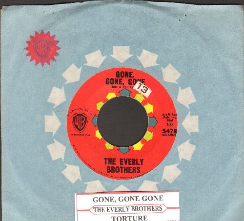 Everly Brothers - Gone, Gone, Gone/Torture (with vintage Warner Brothers company sleeve and juke box label) - NM9/ - 45 rpm Records