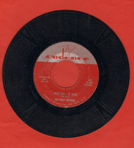 Everly Brothers - When Will I Be Loved/Be Bop A-Lula  - EX8/ - 45 rpm Records