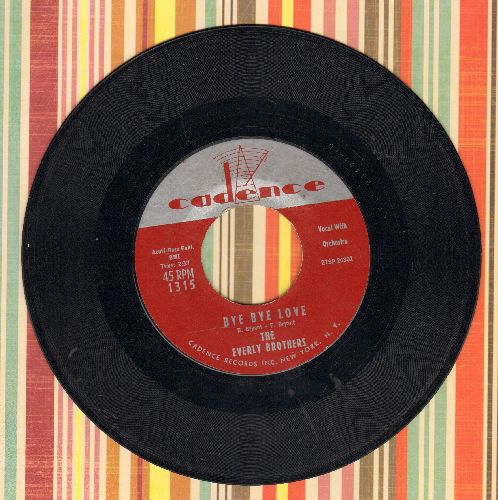 Everly Brothers - Bye Bye Love/I Wonder If I Care As Much - EX8/ - 45 rpm Records