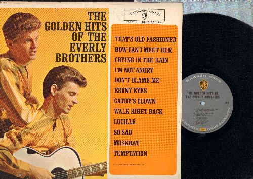 Everly Brothers - Golden Hits: How Can I Meet Her, Crying In The Rain, Ebony Eyes, Cathy's Clown, Lucille, So Sad, Temptation (Vinyl MONO LP record - gray label) - NM9/EX8 - LP Records