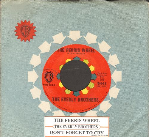 Everly Brothers - The Ferris Wheel/Don't Forget To Cry (with vintage Warner Brothers company sleeve and juke box label) - NM9/ - 45 rpm Records