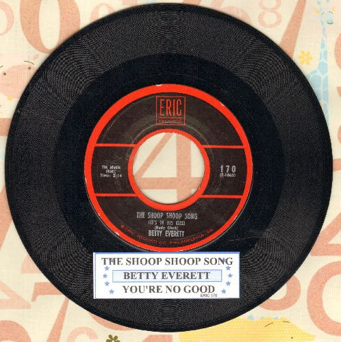 Everett, Betty - The Shoop Shoop Song (It's In His Kiss)/You're No Good (double-hit re-issue with juke box label) - NM9/ - 45 rpm Records
