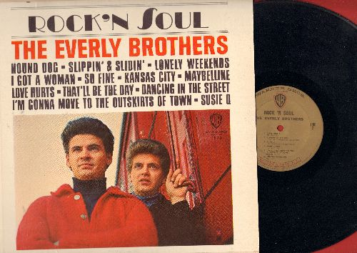 Everly Brothers - Rock 'N Soul: Hound Dog, So Fine, I Got A Woman, Maybelline, Love Hurts, That'll Be The Day, Dancing In The Street (Vinyl STEREO LP record) - EX8/VG7 - LP Records