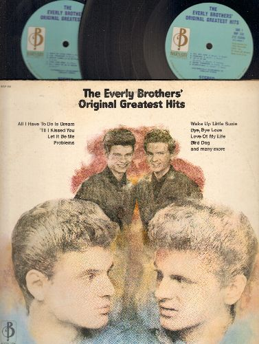 Everly Brothers - Original Greatest Hits: All I Have To Do Is Dream, Let It Be Me, Bird Dog, Wake Up Little Susie, Bye Bye Love, Lightning Express (2 vinyl STEREO LP record set, gate-fold cover) - EX8/VG7 - LP Records