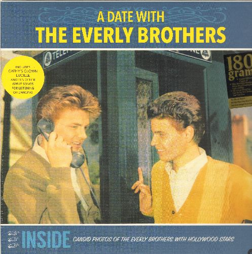 Everly Brothers - A Date With The Everly Brothers: Made To Love, Temptation, Love Hurts, Lucille, Cathy's Clown, Jezebel (180 gram Virgin Vinyl re-issue, EU Pressing, SEALED, never opened!) - SEALED/SEALED - LP Records