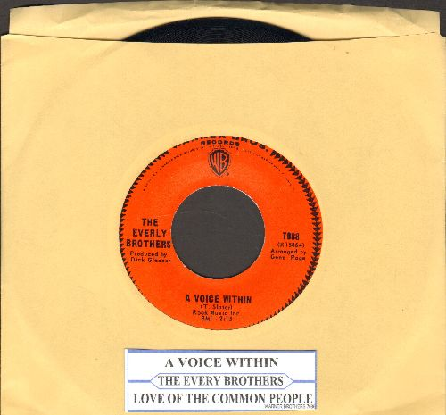 Everly Brothers - Love Of The Common People/A Voice Within (with juke box label) - NM9/ - 45 rpm Records
