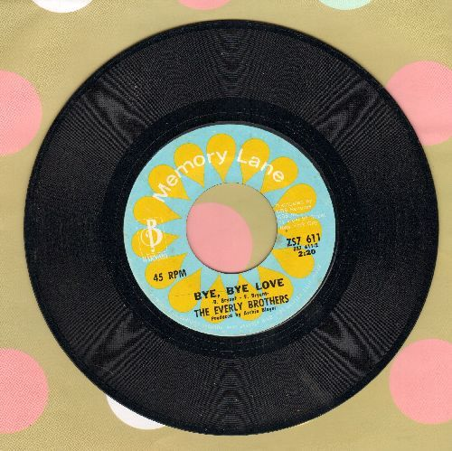 Everly Brothers - Bye Bye Love/Problems (double-hit re-issue) - VG7/ - 45 rpm Records