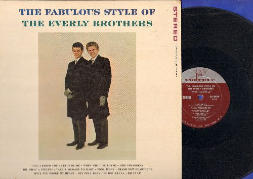 Everly Brothers - The Fabulous Style Of: Let It Be Me, When Will I Be Loved, Be Bop A-Lula, ('Til) I Kissed You, Rip It Up (vinyl STEREO LP record) - EX8/EX8 - LP Records