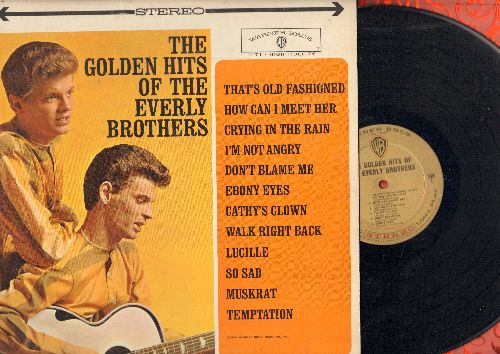 Everly Brothers - Golden Hits: How Can I Meet Her, Crying In The Rain, Ebony Eyes, Cathy's Clown, Lucille, So Sad, Temptation (Vinyl STEREO LP record, gold label first issue, NICE condition!) - NM9/EX8 - LP Records