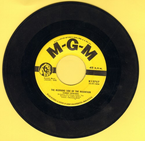 Edwards, Tommy - The Morning Side of the Mountain/Please Mr. Sun (yellow label first issue) - VG7/ - 45 rpm Records