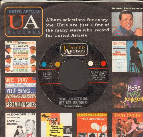 Exciters - He's Got The Power/Drama Of Love (with vintage United Artists company sleeve) - EX8/ - 45 rpm Records