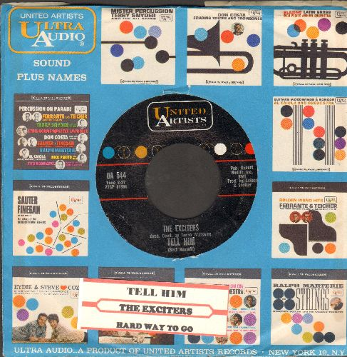 Exciters - Tell Him/Hard Way To Go (with company sleeve and juke box label) - NM9/ - 45 rpm Records