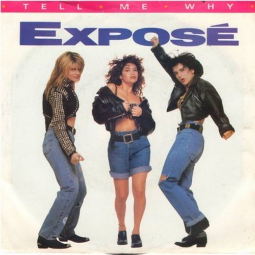 Expose - Tell Me Why/Let Me Down Easy (with picture sleeve) - NM9/EX8 - 45 rpm Records