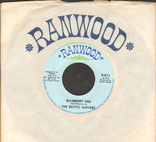 Exotic Guitars - Blueberry Hill/I Will Wait For You (MINT condition with vintage Rainwood company sleeve) - M10/ - 45 rpm Records