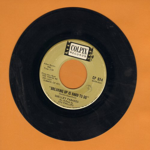 Fabares, Shelley - Breaking Up Is Hard To Do/The Things We Did Last Summer - VG6/ - 45 rpm Records