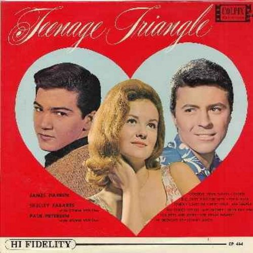 Fabares, Shelley, James Darren, Paul Petersen - Teenage Triangle: Goodbye Cruel World, Johnny Angel, Little Boy Sad, Gidget, Johnny Loves Me, Her Royal Majesty, Conscience (Vinyl MONO LP record, NICE condition!) - VG7/VG7 - LP Records