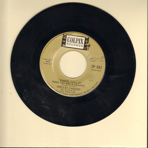 Fabares, Shelley - Ronnie, Call Me When You Get A Chance/I Left A Note To Say Goodbye  - VG7/ - 45 rpm Records
