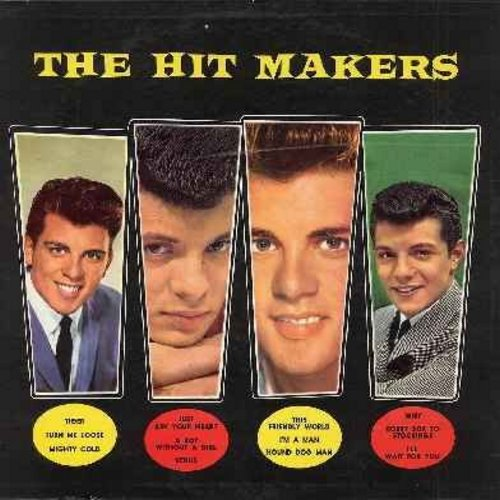 Fabian, Frankie Avalon - Fabian/Avalon - The Hit Makers: Tiger, Turn Me Loose, Just Ask Your Heart, Venus, Hound Dog Man, Why, I'll Wait For You, I'm A Man, Bobby Sox To Stockings (Vinyl MONO LP record, NICE condition!)  - VG7/VG7 - LP Records