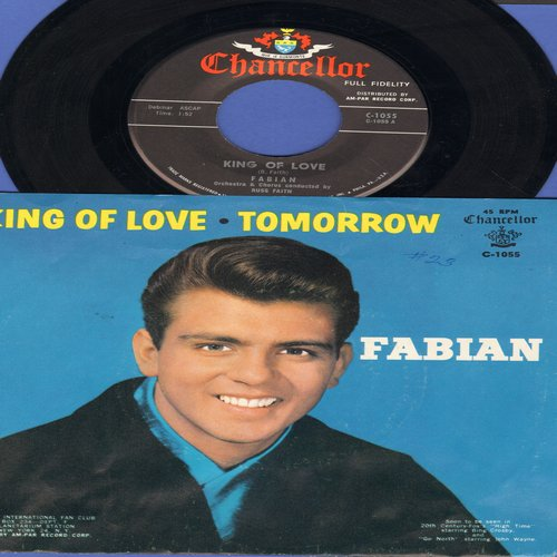 Fabian - King Of Love/Tomorrow (with picture sleeve, NICE condition!) - NM9/NM9 - 45 rpm Records