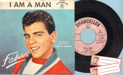 Fabian - I'm A Man/Hypnotized (with RARE picture sleeve with -I AM A MAN- printed as title!) - EX8/EX8 - 45 rpm Records