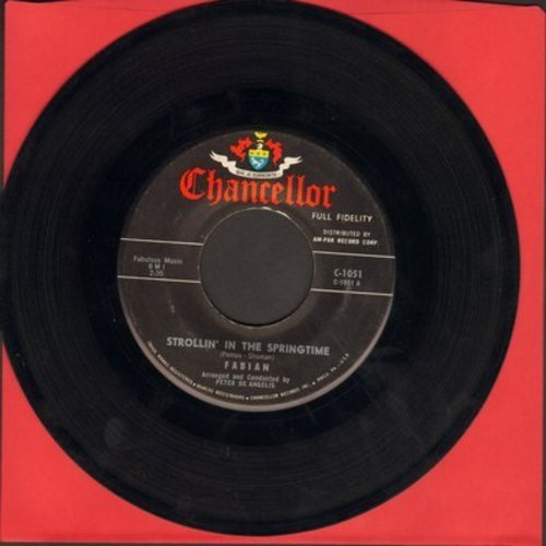 Fabian - Strollin' In The Springtime/I'm Gonna Sit Right Down And Write Myself A Letter (mint condition) - NM9/ - 45 rpm Records