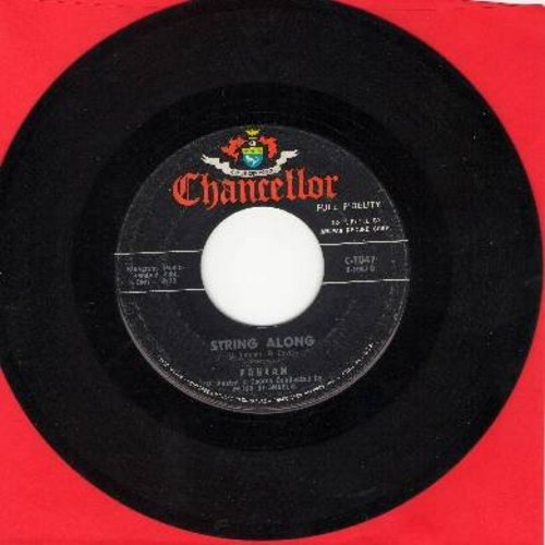 Fabian - String Along (FANTASTIC Teen Idol Gem!)/About This Thing Called Love (with juke box label) - VG7/ - 45 rpm Records