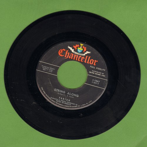 Fabian - String Along (FANTASTIC Teen Idol Gem!)/About This Thing Called Love  - EX8/ - 45 rpm Records