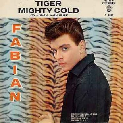 Fabian - Tiger/Mighty Cold (with picture sleeve) - NM9/VG7 - 45 rpm Records