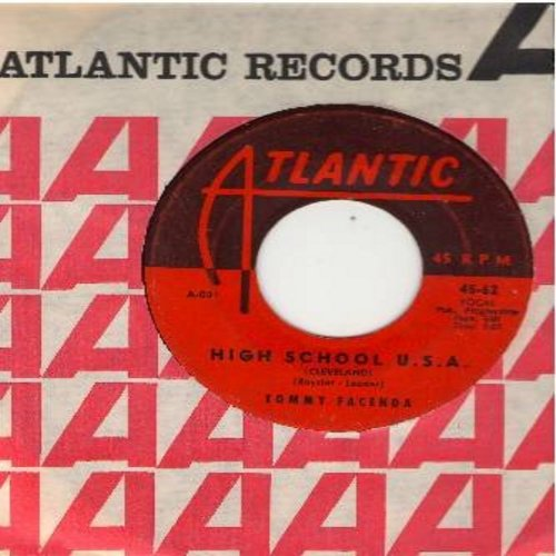 Facenda, Tommy - High School U.S.A. (Cleveland Version)/Plea Of Love (with vintage Atlantic company sleeve) (wol) - VG6/ - 45 rpm Records