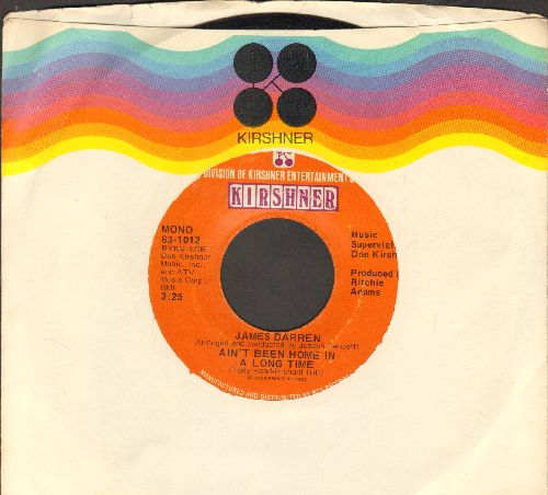 Darren, James - Ain't Been Home In A Long Time/I Think Somebody Loves Me (with Kirshner company sleeve) - EX8/ - 45 rpm Records