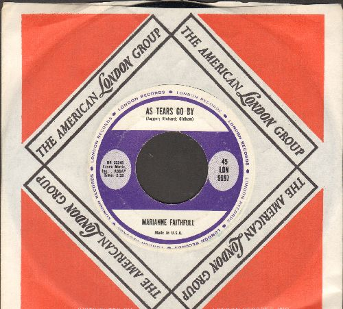 Faithfull, Marianne - As Tears Go By/Greensleeves (with London company sleeve) - NM9/ - 45 rpm Records