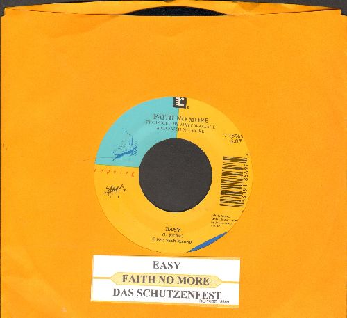 Faith No More - Easy/Das Schutzenfest (with juke box label) - NM9/ - 45 rpm Records